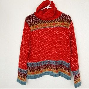 Vintage All Points Christmas Turtleneck Sweater